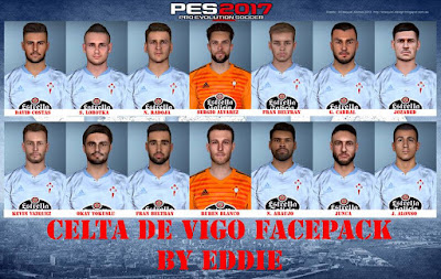 PES 2017 Celta Vigo Facepack 2018/2019 by Eddie Facemaker