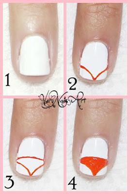 Decoración de uñas con zorro paso a paso 1