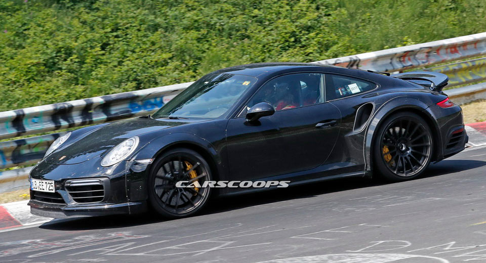 2019 porsche 911 turbo mule hits the track with over 600 hp. Black Bedroom Furniture Sets. Home Design Ideas