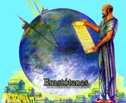 Eratóstenes foi quem tentou provar que a Terra era esférica