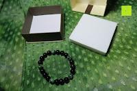 ausgepackt: AmorWing 10mm Obsidian und Ruby Zoisit Gebetsarmband vom Einfachen Stil für Damen/Herren
