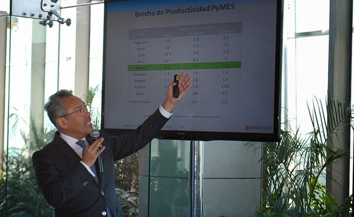 En la Unión Europea las Pymes son 1.3% menos productivas que las grandes empresas, mientras que en México son 6.3%. (Foto: Cortesía Kronos)