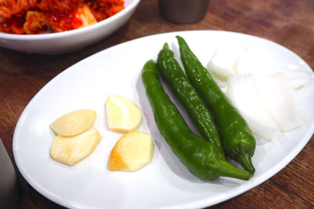 korean side dishes garlic green chilli onion
