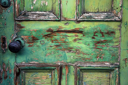 photography, urban decay, photo, green door, contemporary, Sam Freek,