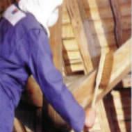 brossage bois de charpente
