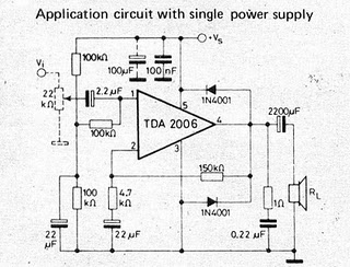 schematic & wiring diagram: tda2006 - 12w audio amplifier ... b w zeppelin circuit diagram 1000 w inverter circuit diagram