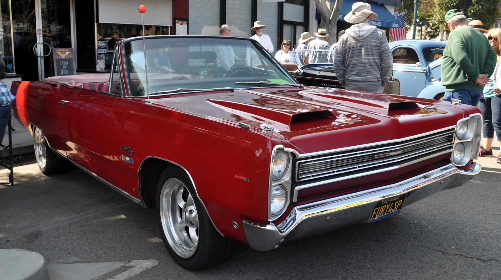 Just A Car Guy: a 1968 Plymouth Sport Fury  The hood scoops