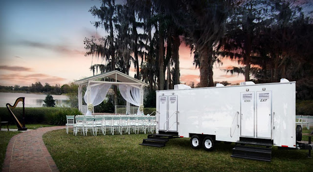 Luxury Restroom Trailer for VIP Special Events