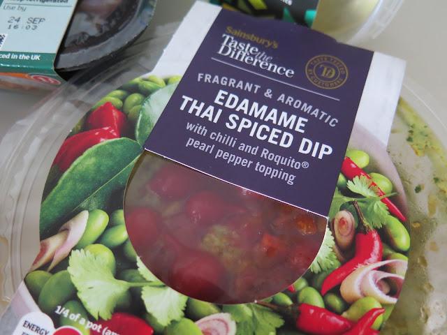 edamame thai spiced dip, vegan