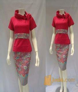 baju batik pramugari terbaru