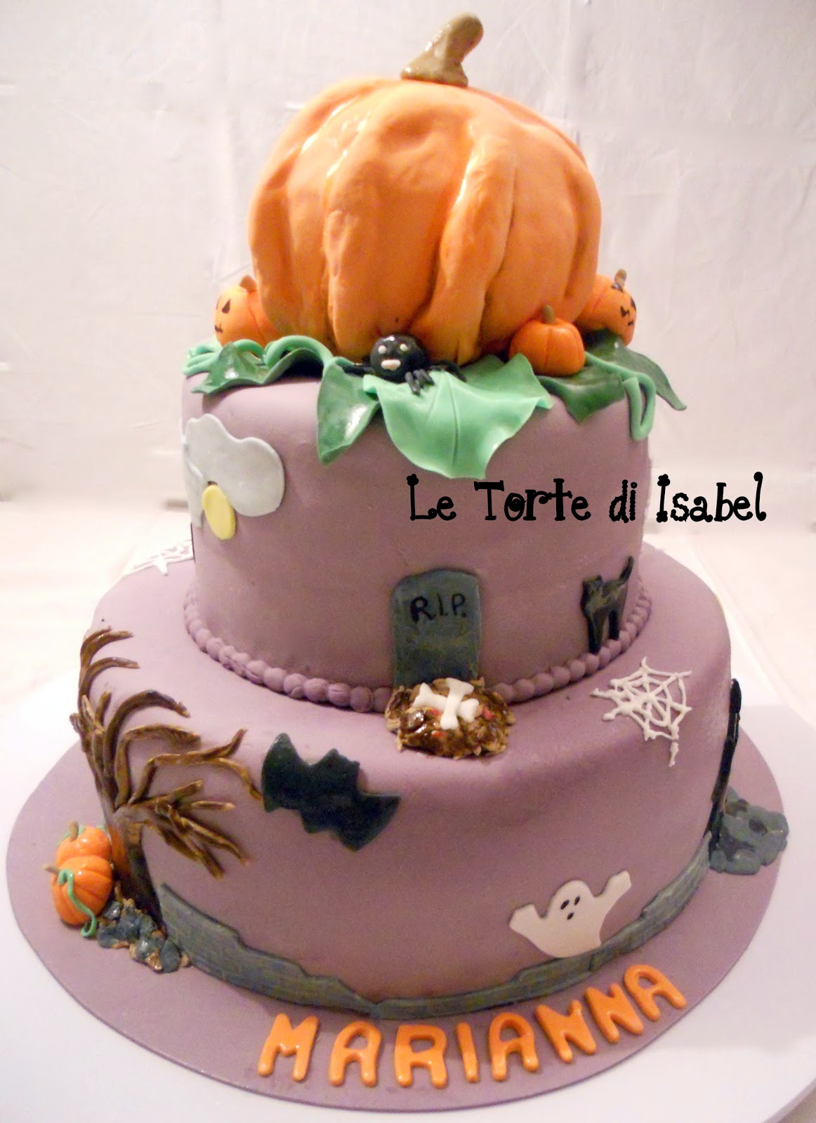 le torte di isabel torta di halloween con zucca. Black Bedroom Furniture Sets. Home Design Ideas
