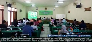 Dinas Lingkungan Hidup (DLH) Kabupaten Sukabumi mengadakan Desiminasi Penerapan dan Penanganan Hukum (DPPH) tahun 2019.