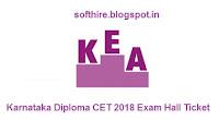 Karnataka Diploma CET Exam Hall Ticket