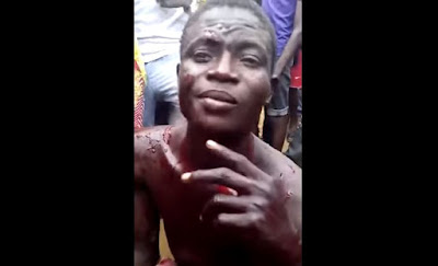 Child Kidnapper caught and seriously beaten in Lagos (Video)