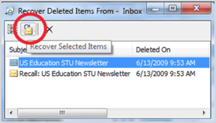Restore Outlook 2007 Deleted Items