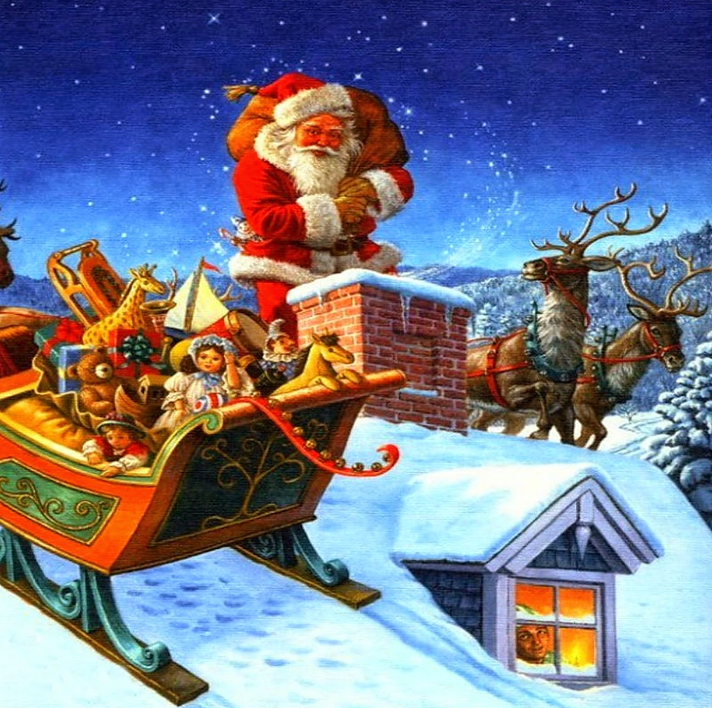 Cartoon Christmas Tree With Presents