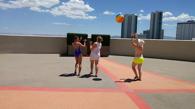 Pool day at the Stratosphere