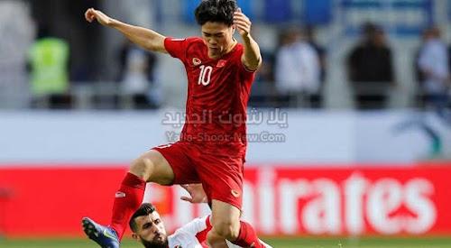 الاردن تتعادل مع منتخب فيتنام في الجولة الثانيه من كأس آسيا تحت 23 سنة