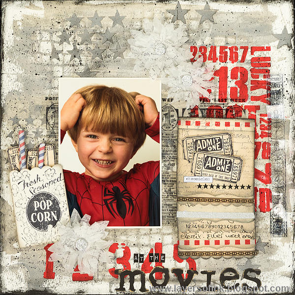 Layers of ink - At The Movies Layout by Anna-Karin with dies by Tammy Tutterow.