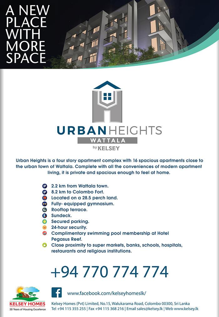 Kelsey Homes    Urban Heights Wattala by Kelsey