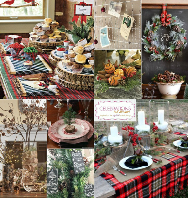 Winter Chalet Inspired Holiday Party Ideas - via BirdsParty.com