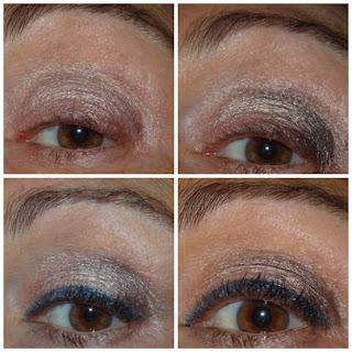 maquillaje de ojos con delineado azul