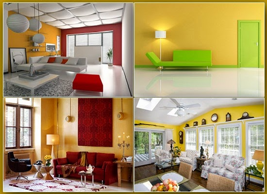 Yellow colored interiors