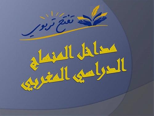 مداخل المنهاج الدراسي المغربي