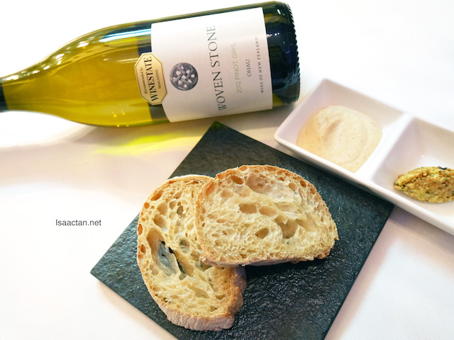 Handmade Lite Rye Bread paired with Ohau Woven Stone Pinot Gris 2012