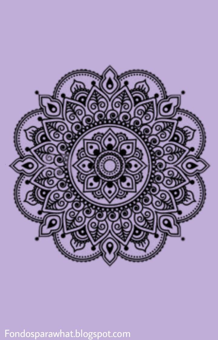 Fondos Para Whatsapp Fondo Mandala Violeta