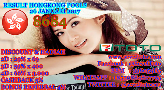 RESULT HONGKONG POOLS 26 JANUARI 2017