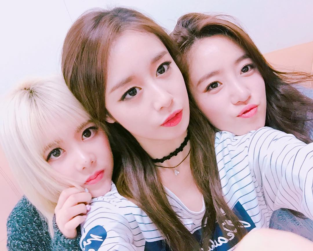 T-ara JiYeon, EunJung, and Qri posed for cute SelCa ...