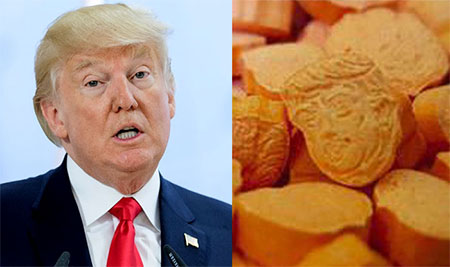 Thousands of Trump-shaped drug tablets seized in Germany