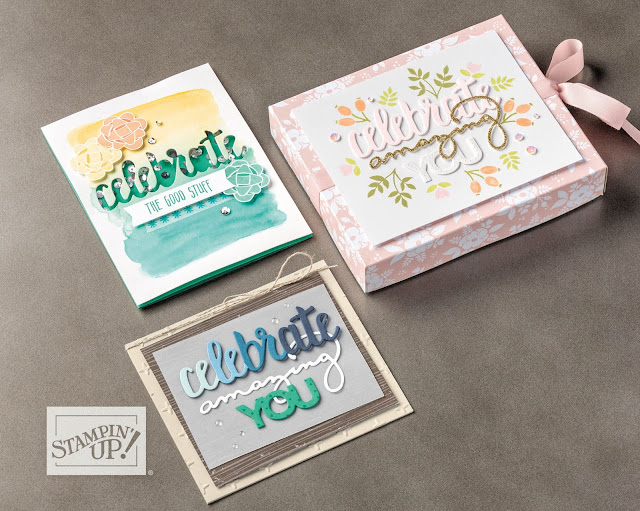 Celebrate You thinlits dies from Stampin' Up!