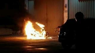 Sepeda Motor Ibu Ela Terbakar Diduga di Bakar Mantan Suami