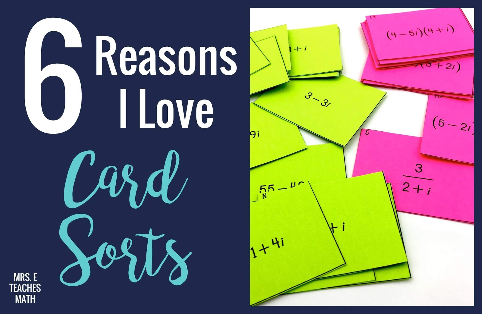 Card sorts, matching cards, interactive notebook cards, whatever you call them, I love them.  Read more about how they keep students engaged with these ideas!