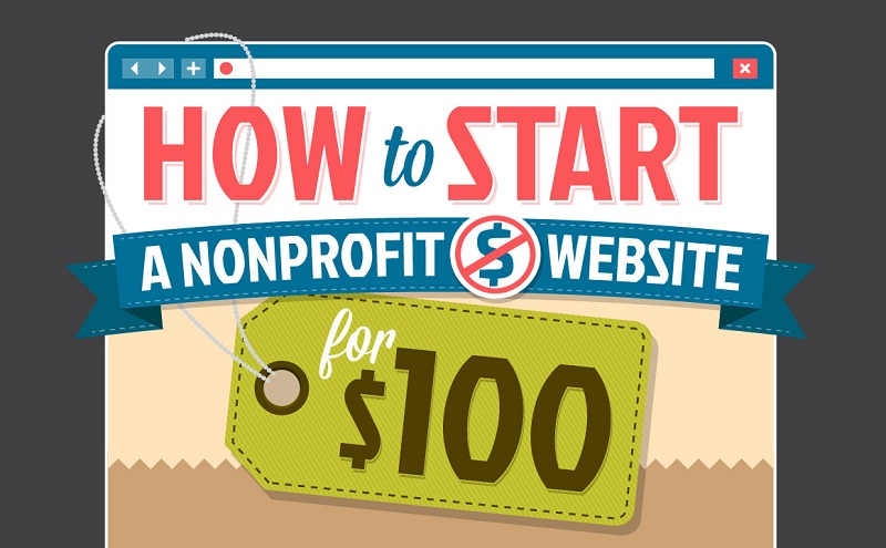 How To Start A Nonprofit Website or blog For $100 Or Less - #infographic #blogging