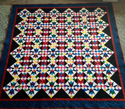 Cathedral Stars Quilt Free Pattern