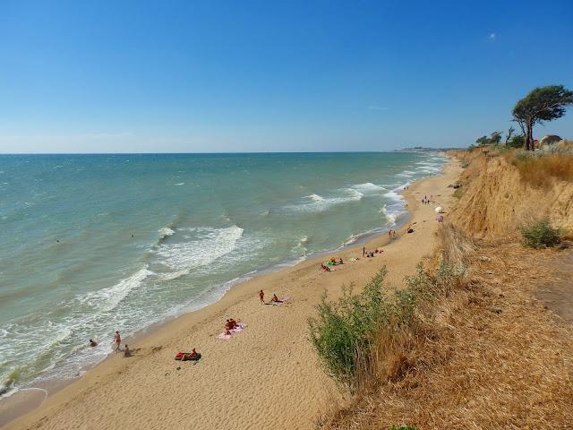 Jedna z plaż koło Odessy, sierpień 2016