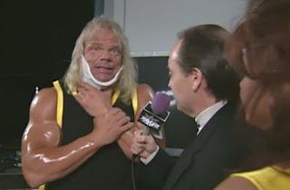 WCW Mayhem 1999 - Lex Luger feigned an injury
