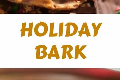 HOLIDAY BARK #christmas #snack