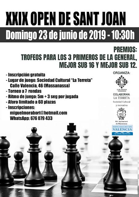 23 junio, XXIX Open de Sant Joan de Massanassa