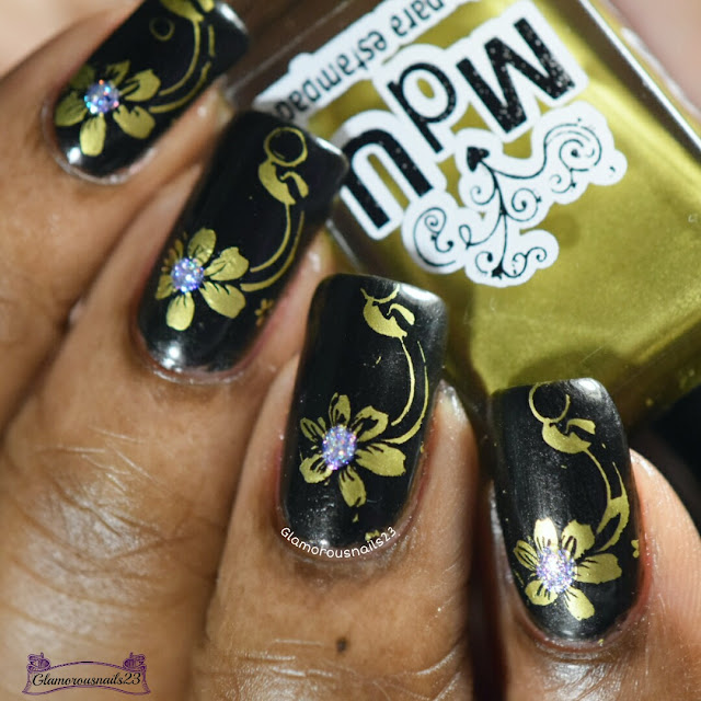 Gold Flower - Stamping Saturdays #15
