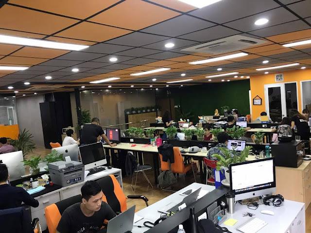 Không gian làm việc của Mia.vn