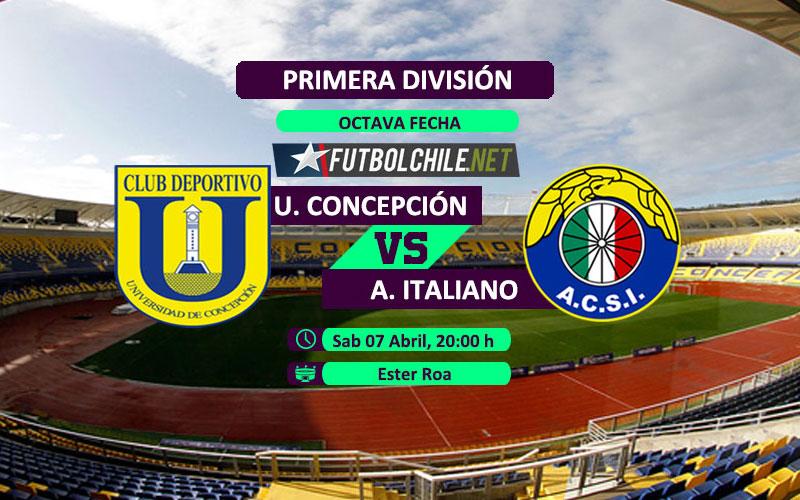 Universidad de Concepción vs Audax Italiano - 20:00 h - Primera División - 07/04/18