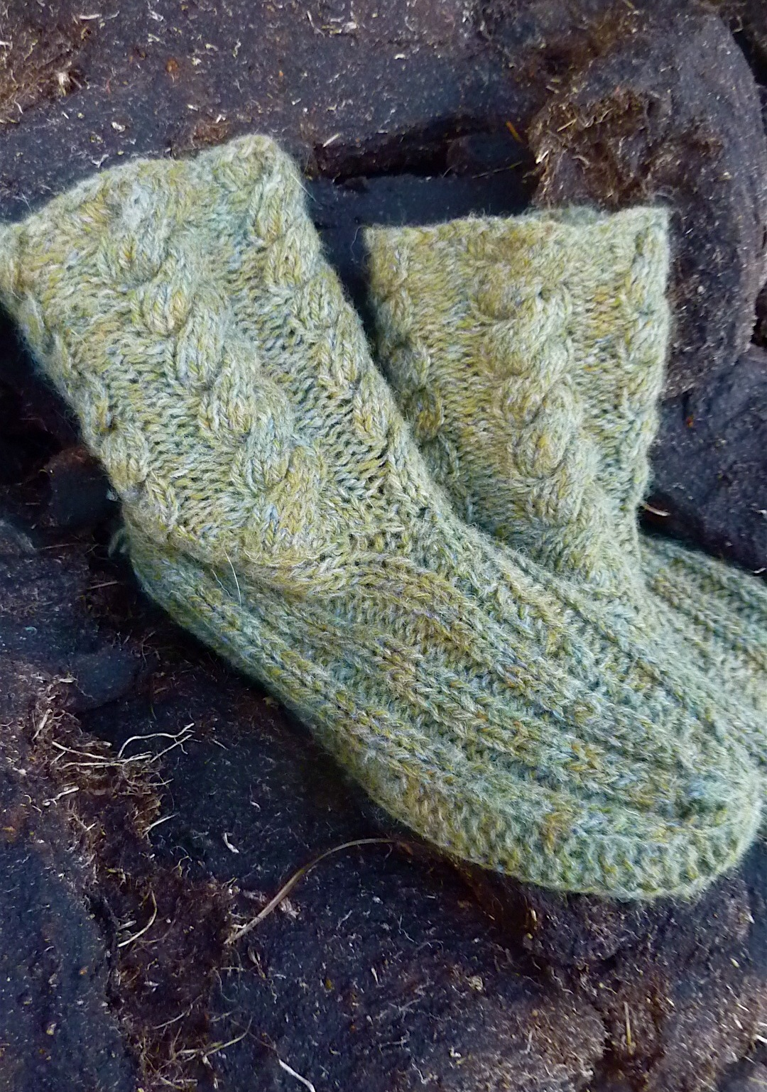free Inner Wild Winter Woollen Slippers knitting pattern - Inner ...