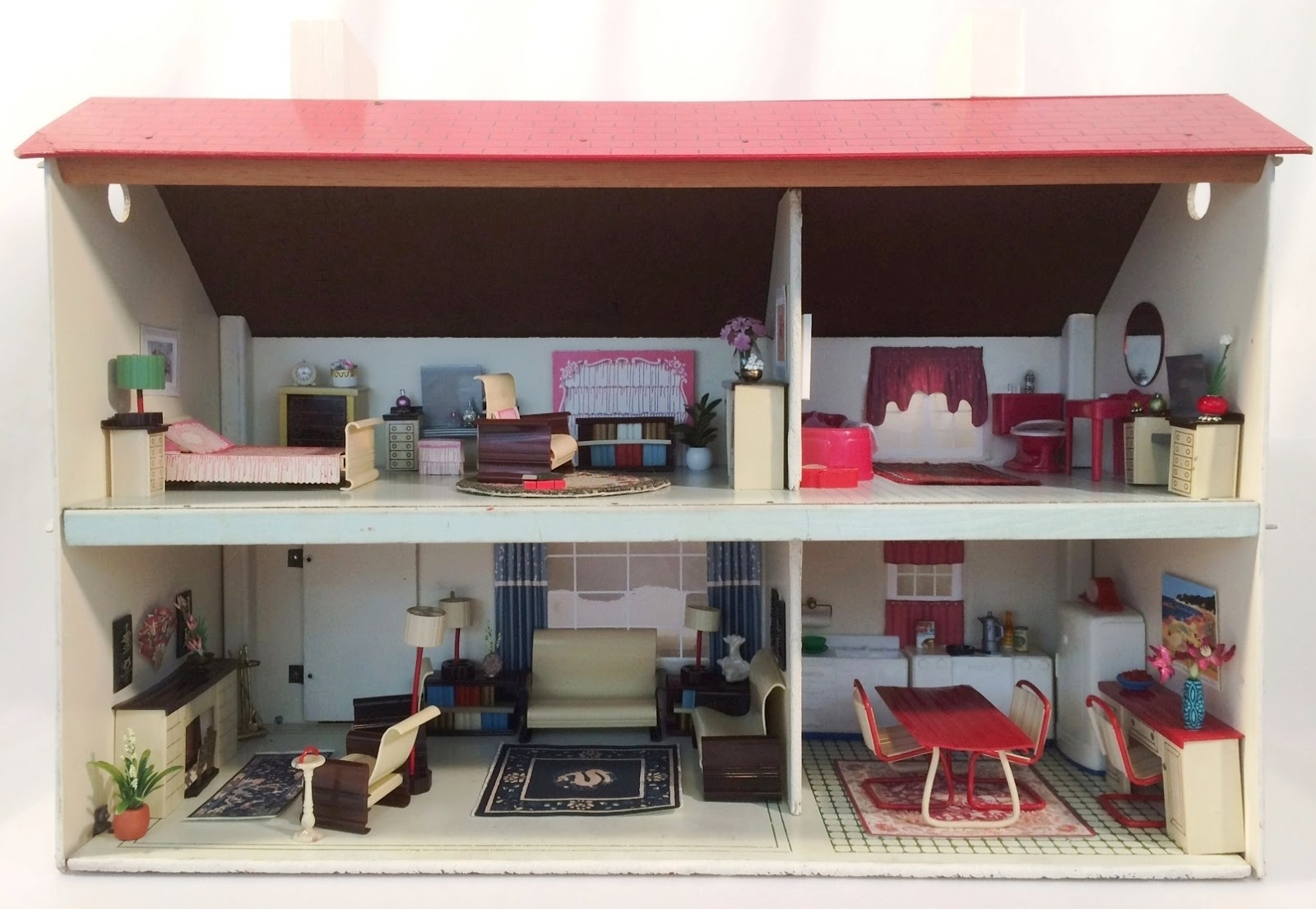 My Vintage Dollhouses Ardee Plastic Dollhouse Furniture From 1946 With A Modern Flair