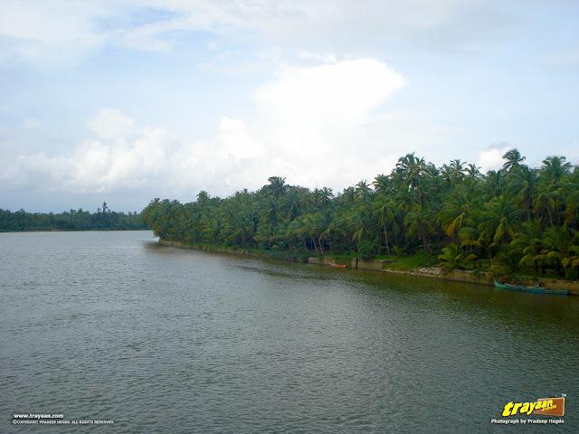 A view of River Sita from the bridge, near Barkuru