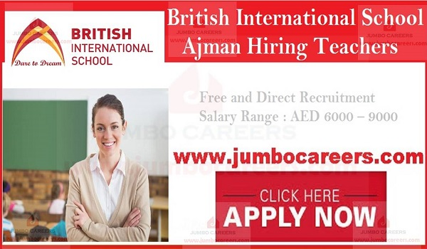 Jobs in British International School Ajman, British International School Careers,