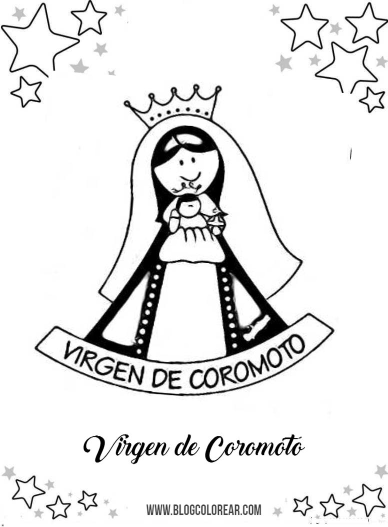 Dibujos De Virgen De Guadalupe Para Pintar